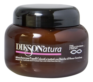 Dikson Маска Natura Mask For Colored & Treated Hair With Wild Rose Berries для Окрашенных с Экстрактом Шиповника, 250 мл маска dikson mask with rose hips