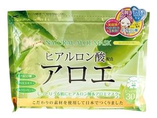 Japan Gals Курс Natural Mask Натуральных Масок для Лица с Экстрактом Алоэ, 30шт