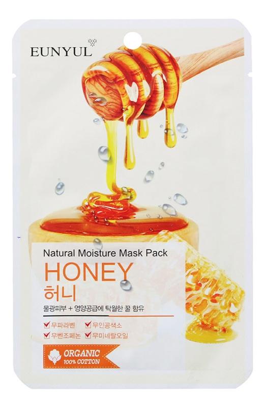 Eunyul Маска Тканевая с Экстрактом Меда Natural Moisture Mask Pack Honey, 22 мл маска тканевая с лошадиным маслом eunyul natural moisture mask pack horse oil 22мл