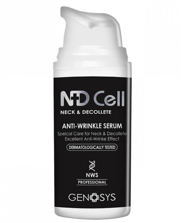 Genosys Сыворотка NDCell Anti-Wrinkle Serum Антивозрастная для Шеи и Зоны Декольте, 30 мл genosys крем ndcell anti wrinkle cream антивозрастной для шеи и зоны декольте 50 мл