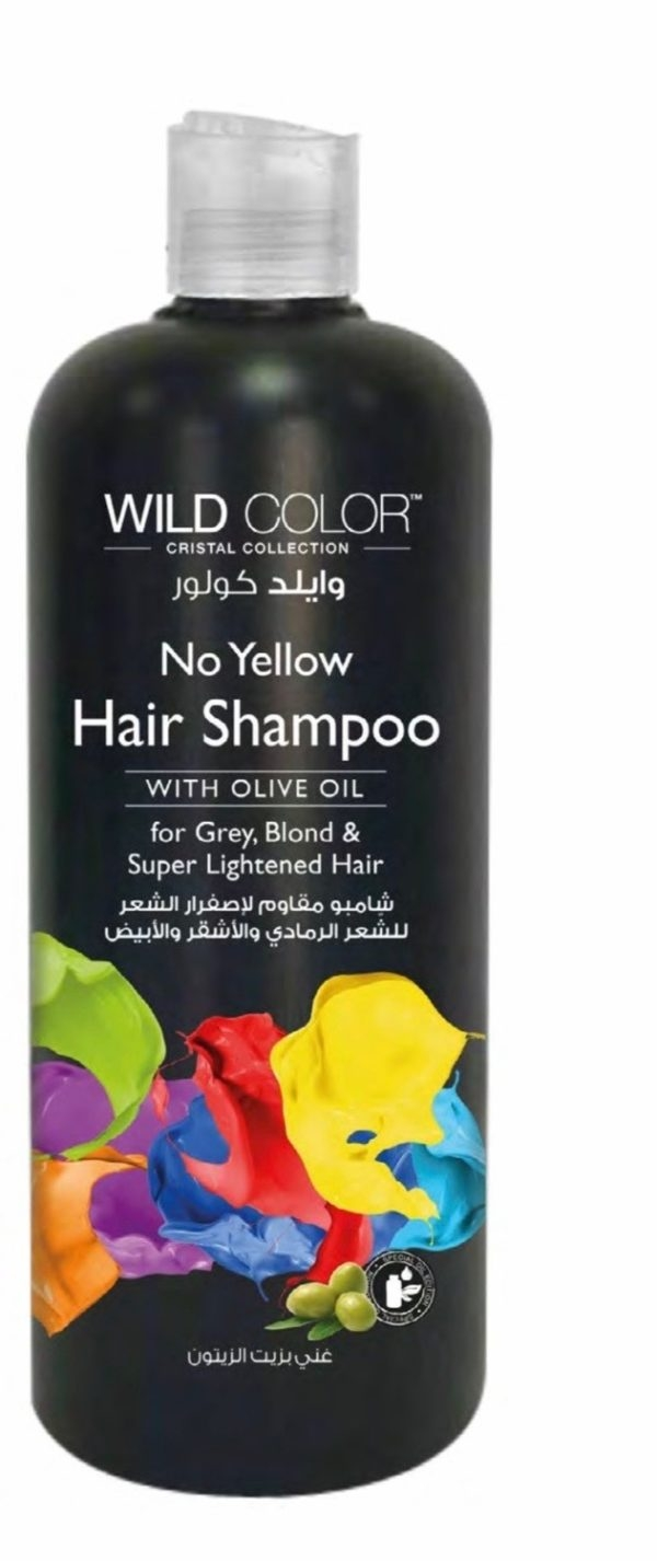 Wild Color Шампунь No Yellow Hair Shampoo Анти Жёлтый для Осветленных и Седых Волос, 500 мл