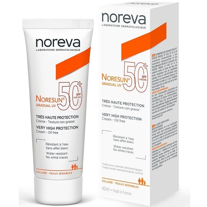 Noreva Крем Noresun Gradual UV УФ Градуал с Очень Высокой Степенью Защиты SPF50+, Тюбик 40 мл