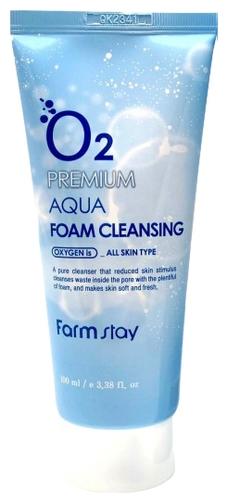 FarmStay Очищающая Пенка с Кислородом O2 Premium Aqua Foam Cleansing, 100 мл