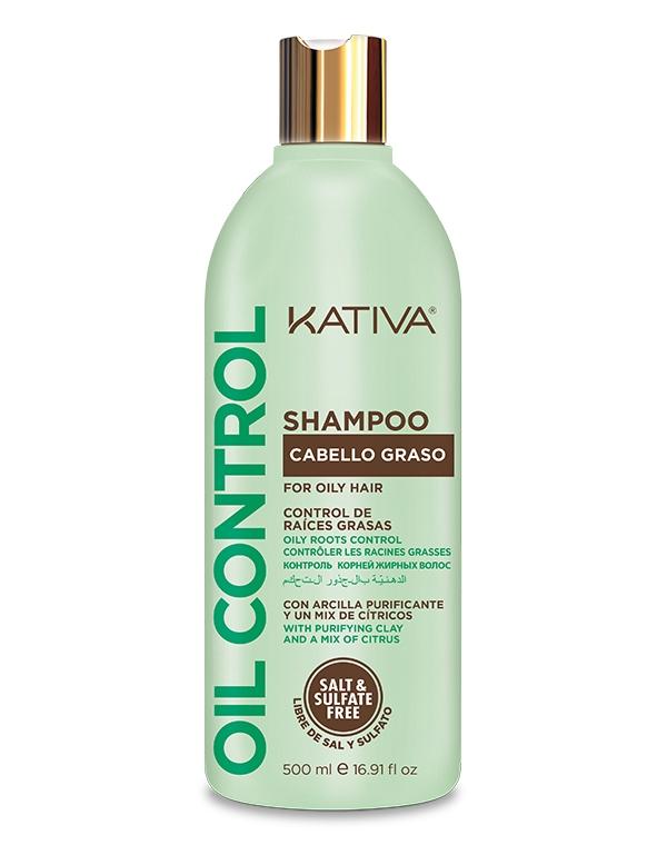 Kativa Шампунь Oil Control Контроль для Жирных Волос, 500 мл шампунь от жирных волос