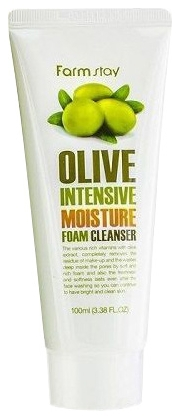 FarmStay Увлажняющая Очищающая Пенка с Экстрактом Оливы Olive Intensive Moisture Foam Cleanser, 100 мл недорого