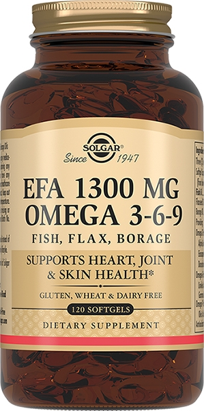 лучшая цена Solgar Комплекс Omega 3-6-9 Жирных Кислот 1300 Омега 3-6-9 №120