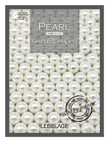 Lebelage Тканевая Маска с Экстрактом Жемчуга Pearl Natural Mask, 23г