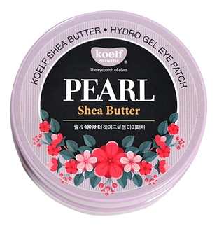 Koelf Патчи Pearl Shea Butter Hydro Gel Eye Patch Гидрогелевые для Области вокруг Глаз с Жемчужной Пудрой и Маслом Ши, 60 шт koelf патчи для глаз с маслом ши и жемчужной пудрой 60 шт