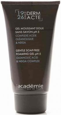 Academie Гель Gel Moussant Doux Sans Savon PH 5 Нежный для Умывания pH5, 150 мл men гель без пены для умывания легкого бритья и увлажнения academie 150 мл