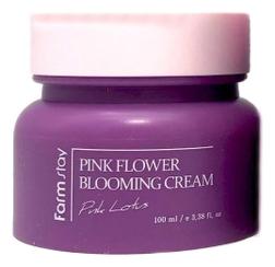 FarmStay Крем для Лица с Экстрактом Лотоса Pink Flower Blooming Cream Pink Lotus, 100 мл farmstay pink flower lotus крем для лица с экстрактом лотоса 100 мл