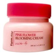 цена FarmStay Крем для Лица с Экстрактом Водяной Лилии Pink Flower Blooming Cream Water Lily, 100 мл онлайн в 2017 году