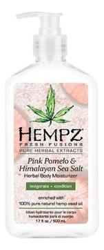 Фото - HEMPZ Молочко Pink Pomelo & Himalayan Sea Salt Herbal Body Moisturizer для Тела Увлажняющее Помело и Гималайская соль, 500 мл hempz молочко original herbal moisturizer для тела увлажняющее оригинальное 500 мл
