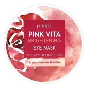Petitfee Патчи Pink Vita Brightening Eye Mask Тканевые для Кожи вокруг Глаз, 60 шт