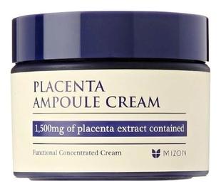 MIZON Крем Placenta Ampoule Cream Антивозрастной Плацентарный для Лица, 50 мл dr select шампунь placenta shampoo ех плацентарный 500 мл