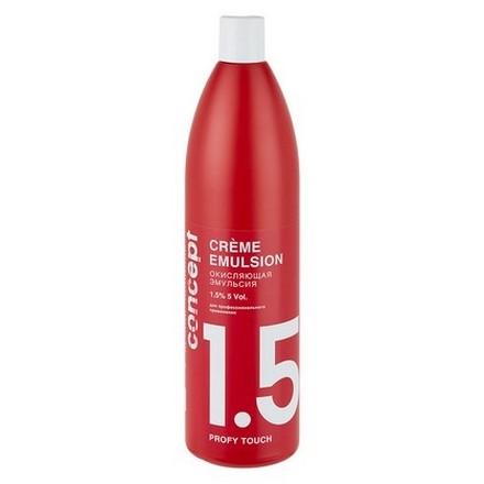 Concept Эмульсия Profy Touch Crème Emulsion Окисляющая 1,5%, 1000 мл elgon oxi cream окисляющая эмульсия с алоэ вера 6% 125 мл