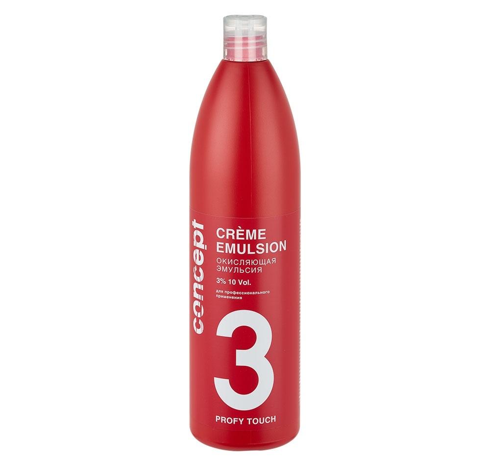 Concept Эмульсия Profy Touch Crème Emulsion Окисляющая 3%, 1000 мл elgon oxi cream окисляющая эмульсия с алоэ вера 6% 125 мл