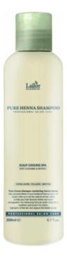 La'dor Шампунь Pure Henna Shampoo Профессиональный Укрепляющий с Хной, 200 мл белорусский шампунь профессиональный