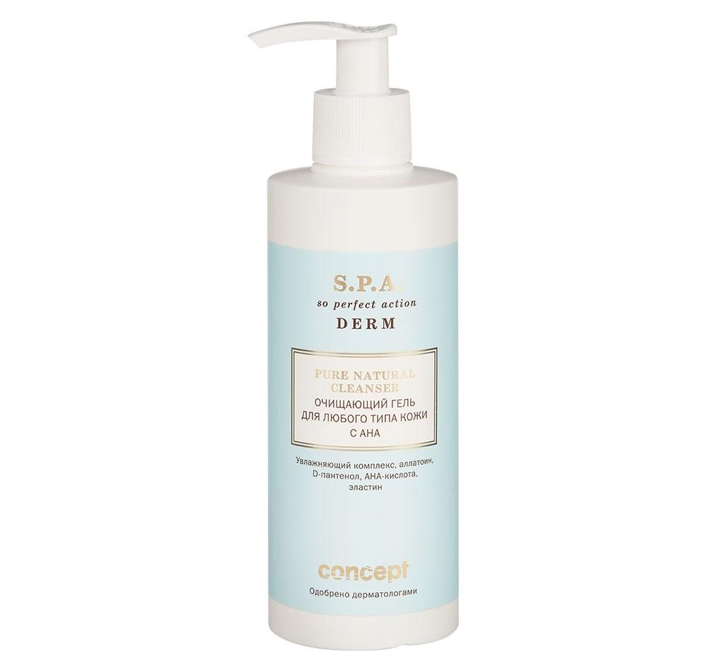 Concept Гель Pure Natural Cleanser for all Skin Types with AHA Очищающий с для Любого Типа Кожи, 250 мл