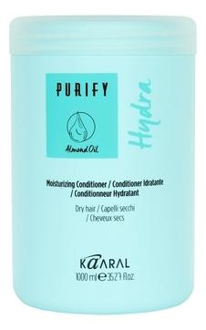 Kaaral Кондиционер Purify- Hydra Conditioner Увлажняющий для Сухих Волос, 1000 мл кондиционер для сухих волос kaaral purify hydra conditioner 250 мл увлажняющий