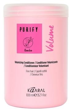цена Kaaral Кондиционер для Тонких Волос Purify - Volume Conditioner, 1000 мл онлайн в 2017 году