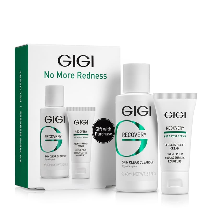 GIGI Набор RC No More Redness Дорожный для Чувствительной и Поврежденной Кожи, 60 мл+15 мл