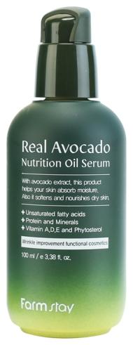 FarmStay Питательная Сыворотка с Маслом Авокадо Real Avocado Nutrition Oil Serum, 100 мл недорго, оригинальная цена