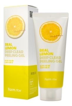 FarmStay Гель Real Lemon Deep Clear Peeling Gel Отшелушивающий с Экстрактом Лимона, 100 мл
