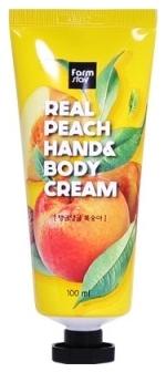 FarmStay Крем для Рук и Тела с Персиком Real Peach Hand & Body Cream, 100 мл