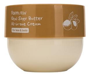 FarmStay Крем  Real Shea Butter All-In-One Cream Многофункциональный с Маслом Ши, 300 мл