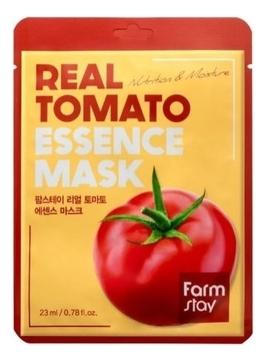 FarmStay Маска Real Tomato Essence Mask Тканевая для Лица с Экстрактом Томата, 23 мл farmstay тканевая маска для лица с экстрактом персика real peach essence mask 23 мл