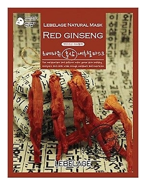 Lebelage Тканевая Маска с Корнем Красного Женьшеня Red Ginseng Natural Mask, 23г