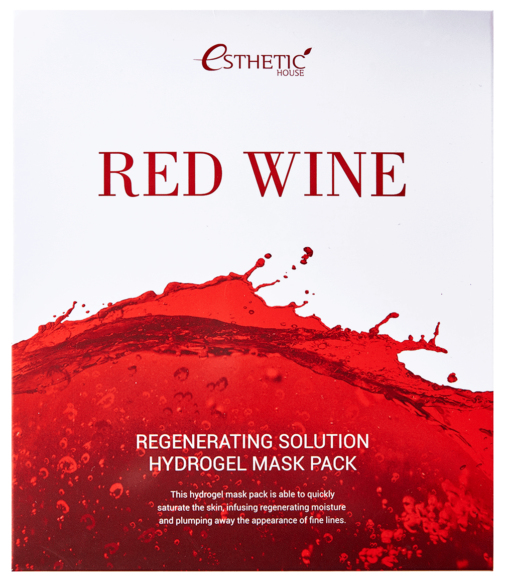Esthetic House Маска Red Wine Regenerating Solution Hydrogel Mask Pack Гидрогелевая для Лица, 5шт