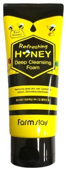 FarmStay Пенка Глубокого Очищения с Экстрактом Меда Refreshing Honey Deep Cleansing Foam, 180 мл
