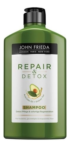 John Frieda Шампунь для Очищения и Восстановления Волос Repair & Detox, 250 мл john frieda несмываемый спрей для укрепления волос с термозащитой detox