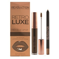 Makeup Revolution Набор для Макияжа Губ Retro Luxe Kits Metallic Sovereign