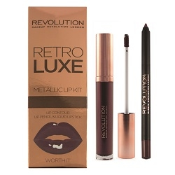 Makeup Revolution Набор для Макияжа Губ Retro Luxe Kits Metallic Worth It