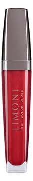 Limoni Блеск Rich Color Gloss для губ тон 103, 7,5 мл блеск для губ rich color gloss 7 5мл no 103