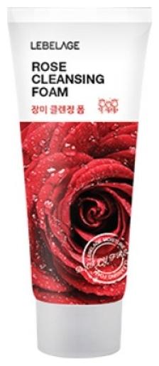 Lebelage Пенка для Умывания с Экстрактом Розы Rose Cleansing Foam, 100 мл цена и фото