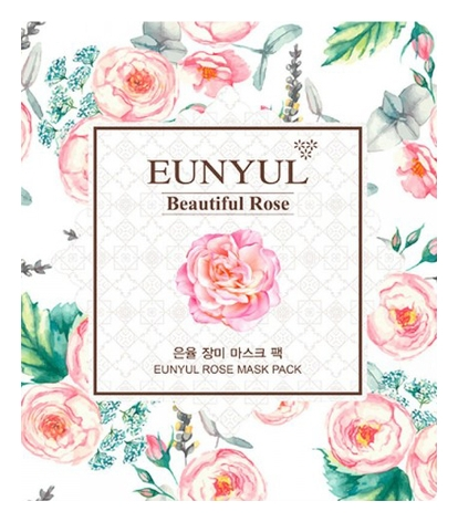 Eunyul Маска Тканевая с Экстрактом Розы Rose Mask Pack, 30 мл