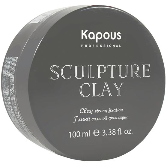 Kapous Глина Sculpture Clay для Укладки Волос Нормальной Фиксации, 100 мл osmo глина воск для волос matte clay extreme 100 мл