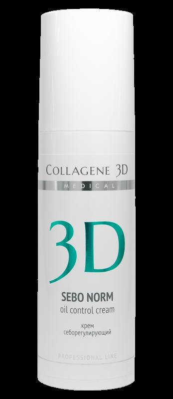 Collagene 3D Крем для Лица Себорегулирующий для Комбинированной и Жирной Кожи Sebo Norm, 150 мл недорого