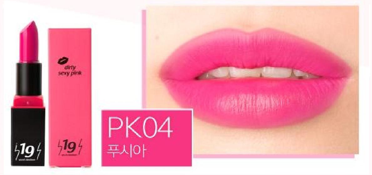 Esthetic House Помада Secret19 Dirty Sexy Pink Fuchsia РК04 для Губ Оттенок Фуксия