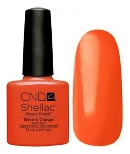 CND Покрытие Shellac Paradise # 90514 Electric Orange Гелевое, 7,3 мл