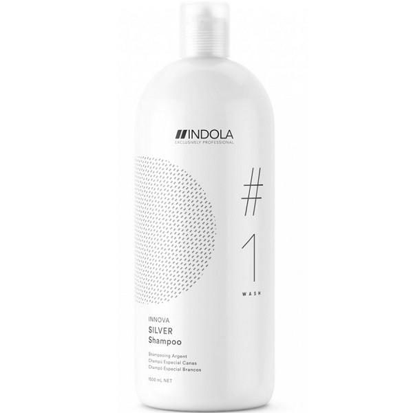 цена на INDOLA PROFESSIONAL Шампунь Silver Shampoo Нейтрализующий для Волос с Содержанием Пурпурных Пигментов, 1500 мл