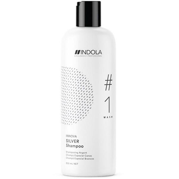 цена на INDOLA PROFESSIONAL Шампунь Silver Shampoo Нейтрализующий для Волос с Содержанием Пурпурных Пигментов, 300 мл