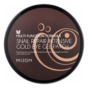 MIZON Патчи Snail Repair Intensive Gold Eye Gel Patch Гидрогелевые с Улиточным Муцином, 60 шт