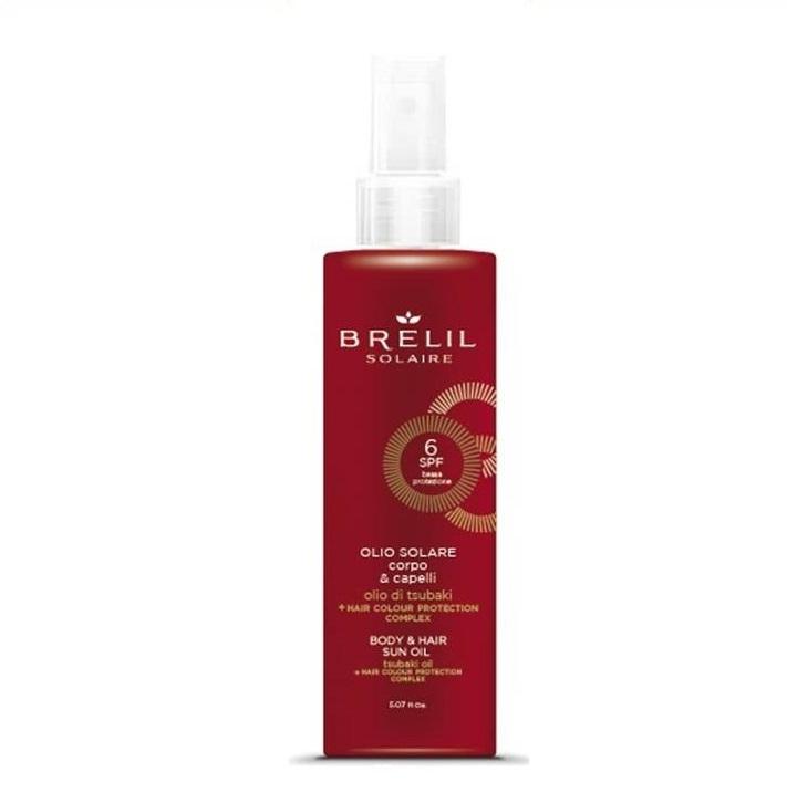 Brelil Professional Масло Solair Защитное для Волос и Тела  SPF 6, 150 мл несмываемое масло для волос
