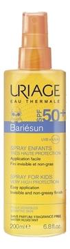Uriage Спрей Uriage для Детей SPF50+ Барьесан, 200 мл uriage cicactive
