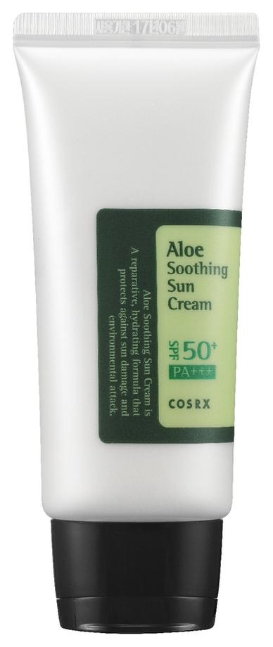 Cosrx Солнцезащитный Крем с Соком Алоэ Вера для Лица SPF50 PA+++ Cosrx Aloe Soothing Sun Cream, 100 мл skincode sunscreen face moisturizer spf50 лосьон солнцезащитный для лица 100 мл