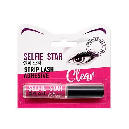 Selfie Star Клей  Strip Lash Adhesive Clear для Накладных Ресниц с Кисточкой, Прозрачный, 5г клей для ресниц duo dark lash adhesive черного цвета 14 г